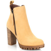 4ever Young  Womens Wheat Murray Leather Boots  men's Low Ankle Boots in Yellow