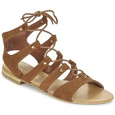 Moony Mood  ERLINE  women's Sandals in Brown