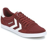 Hummel  STADIL CANEVAS LOW  women's Shoes (Trainers) in Red