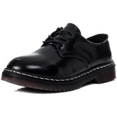 Spylovebuy  COOGEE Lace Up Flat Shoes - Black High Shine  women's High Boots in Black