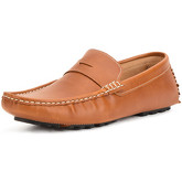 Reservoir Shoes  Moccasin with square toe LINO Camel Man Perm  women's Loafers / Casual Shoes in Brown