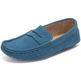 Reservoir Shoes  Moccasins suede look to put on M3075-W RAUL Teal blue Man Perm  men's Loafers / Casual Shoes in Blue