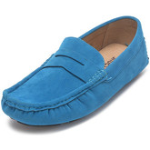 Reservoir Shoes  Moccasins suede look to put on M3075-O RAUL Sky blue Man Perm  men's Loafers / Casual Shoes in Blue