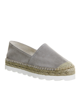 Office Finesse Eva Sole Espadrilles GREY SUEDE