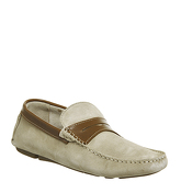 Ask the Missus Freddy Penny Driver BEIGE SUEDE TAN LEATHER