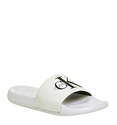 Calvin Klein Chantal Slide WHITE CANVAS