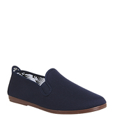 Flossy Plimsole NAVY CANVAS