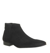 Ask the Missus Edwin Low Chelsea Boot BLACK SUEDE