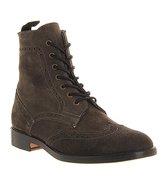 Ask the Missus Vine Lace boots GREY BLACK SUEDE