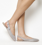 Office Frappe Slingback With Bow Detail GREY