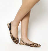 Office Frappe Slingback With Bow Detail LEOPARD