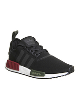 Adidas Nmd R1 BLACK BURGUNDY OLIVE EXCLUSIVE