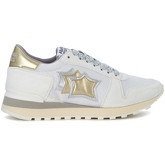 Atlantic Stars  Alhena white, gold and silver leather sneakers  women's Trainers in White