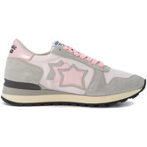 Atlantic Stars  Alhena grey leather and pink nylon sneakers  women's Shoes (Trainers) in Multicolour