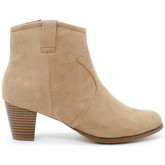 London Rag  Women's Block Ankle Heel Boots  women's Low Boots in Beige