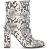 Via Roma 15  python printed leather ankle boots.  women's Low Boots in Other