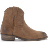 Via Roma 15  brown leather Texan ankle boots.  women's Low Boots in Brown