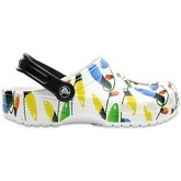 Crocs  Classic Holiday Standard Fit Clog Shoe Sandals in White and Pri  men's Clogs (Shoes) in White