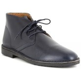 J.bradford  Low Boots  Navy Blue Leather JB-OSVALDO  men's Mid Boots in Blue