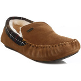 Barbour  Mens Camel Monty Suede Slippers  men's Slippers in Brown