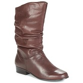 Spot on  BORNEAL  women's High Boots in Brown