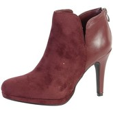 The Divine Factory  Bottine  TDF2717 Bordeaux  women's Low Ankle Boots in Red