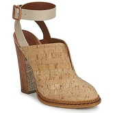John Galliano  AN9211  women's Clogs (Shoes) in Beige