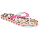 Superdry  PRINTED CORK FLIP FLOP  women's Flip flops / Sandals (Shoes) in Pink
