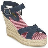 Superdry  ISABELLA ESPADRILLE WEDGE SHOE  women's Sandals in Blue
