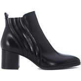 Pon´s Quintana  Mery black leather ankle strap  women's Low Ankle Boots in Black