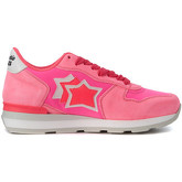 Atlantic Stars  Vega fuchsia fabric and leather sneaker  women's Trainers in Pink