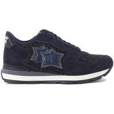 Atlantic Stars  Vega blue leather and leopard fabric sneaker  women's Shoes (Trainers) in Black