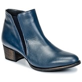 So Size  HOLI  women's Low Ankle Boots in Blue
