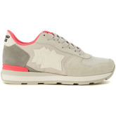Atlantic Stars  Sneaker  Vega in white fabric and grey suede  women's Trainers in Grey