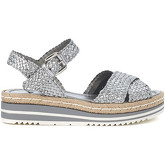 Pon´s Quintana  silver woven leather sandal  women's Sandals in Grey