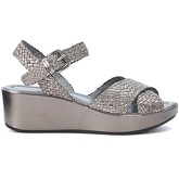 Pon´s Quintana  metallized silver woven leather sandal  women's Sandals in Grey