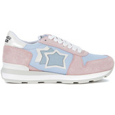 Atlantic Stars  Gemma pink leather and light blue nylon sneaker  women's Shoes (Trainers) in Multicolour
