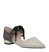 Office Dusty Two Part Point Pumps NUDE GREY SUEDE