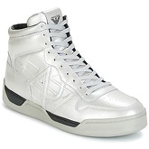 Armani jeans  ROMON  men's Shoes (High-top Trainers) in Silver