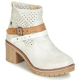 Refresh  MORGA  women's Low Ankle Boots in White
