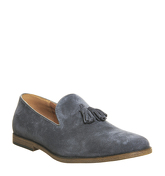 Office Hawk Tassle LIGHT GREY SUEDE