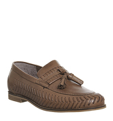 Office Hoxton Woven Loafer TAN LEATHER