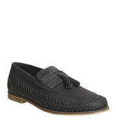 Office Hoxton Woven Loafer BLACK WASHED LEATHER