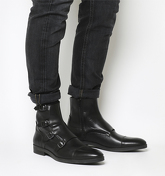 Ask the Missus Giles Monk Boot BLACK LEATHER