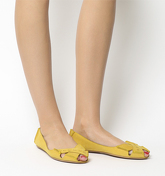 Office Face To Face Peep Toe Shoe YELLOW LEATHER