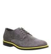 Ask the Missus Cosmos Derby Lace Up GREY SUEDE YELLOW RAND