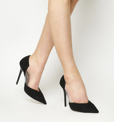 Office Henrietta Perspex Point BLACK SUEDE