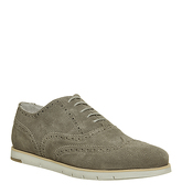 Ask the Missus Harbour Brogue GREY SUEDE