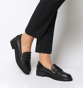 Office Favourite Studded Loafer BLACK LEATHER