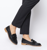 Office Forum Snake Rand Bow Loafer BLACK LEATHER